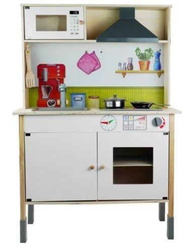 Drewniana Kuchnia Meggie Dla dzieci z Dodatkami Biała 3791