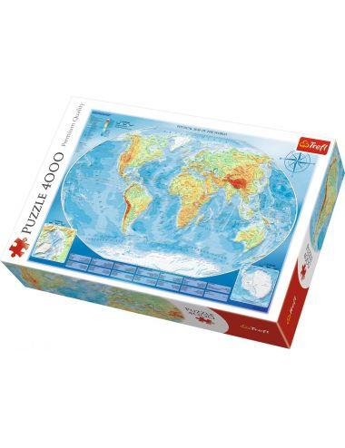 Trefl Puzzle 4000el Wielka mapa fizyczna świata 45007