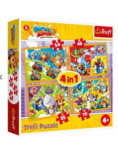 Trefl Puzzle 4 w 1 Bohaterowie serii 4 34343