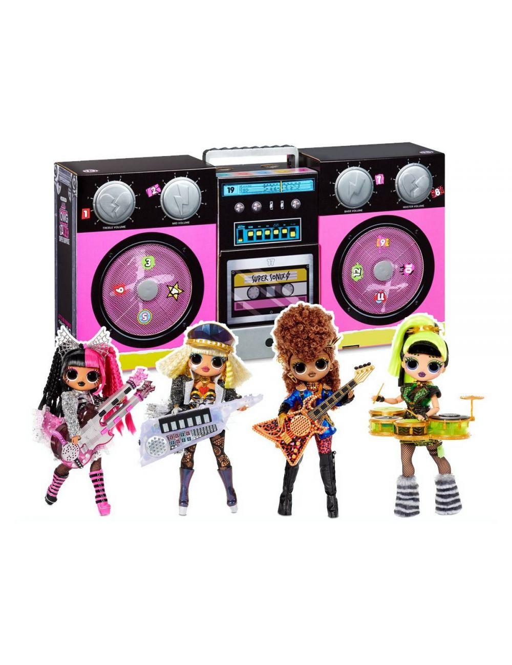 LOL OMG BoomBox Remix Super Surprise 4 lalki 70 niespodzianek 567172