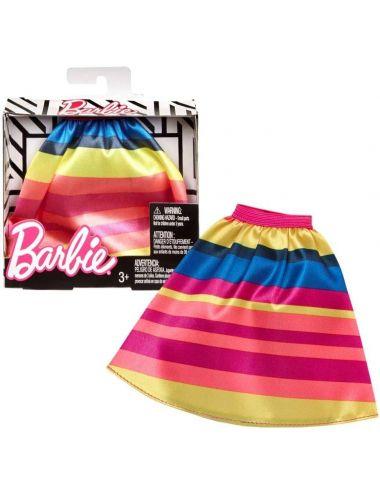 Barbie Ubranko Spódnica w kolorowe paski FPH36