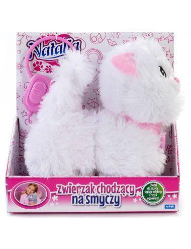 Natalia Interaktywny Kotek Chodzący na Smyczy Biały 121364 Artyk
