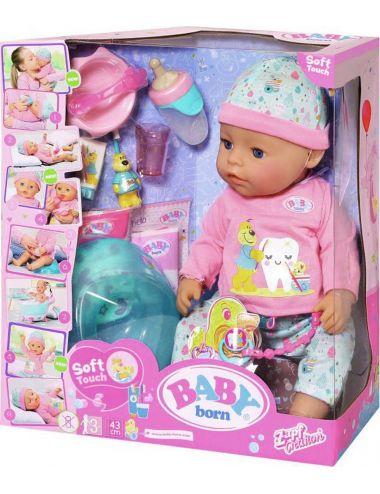 Baby Born Lalka Interaktywna Soft Touch w piżamce 827086