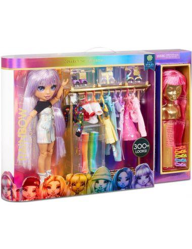 Rainbow High Hair Studio Tęczowe Włosy Zestaw z Unikatową Lalką 569329