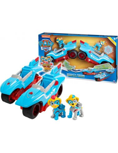 Psi Patrol Pojazd 2w1 Motocykle Dwie Figurki Mighty Twins 6054563