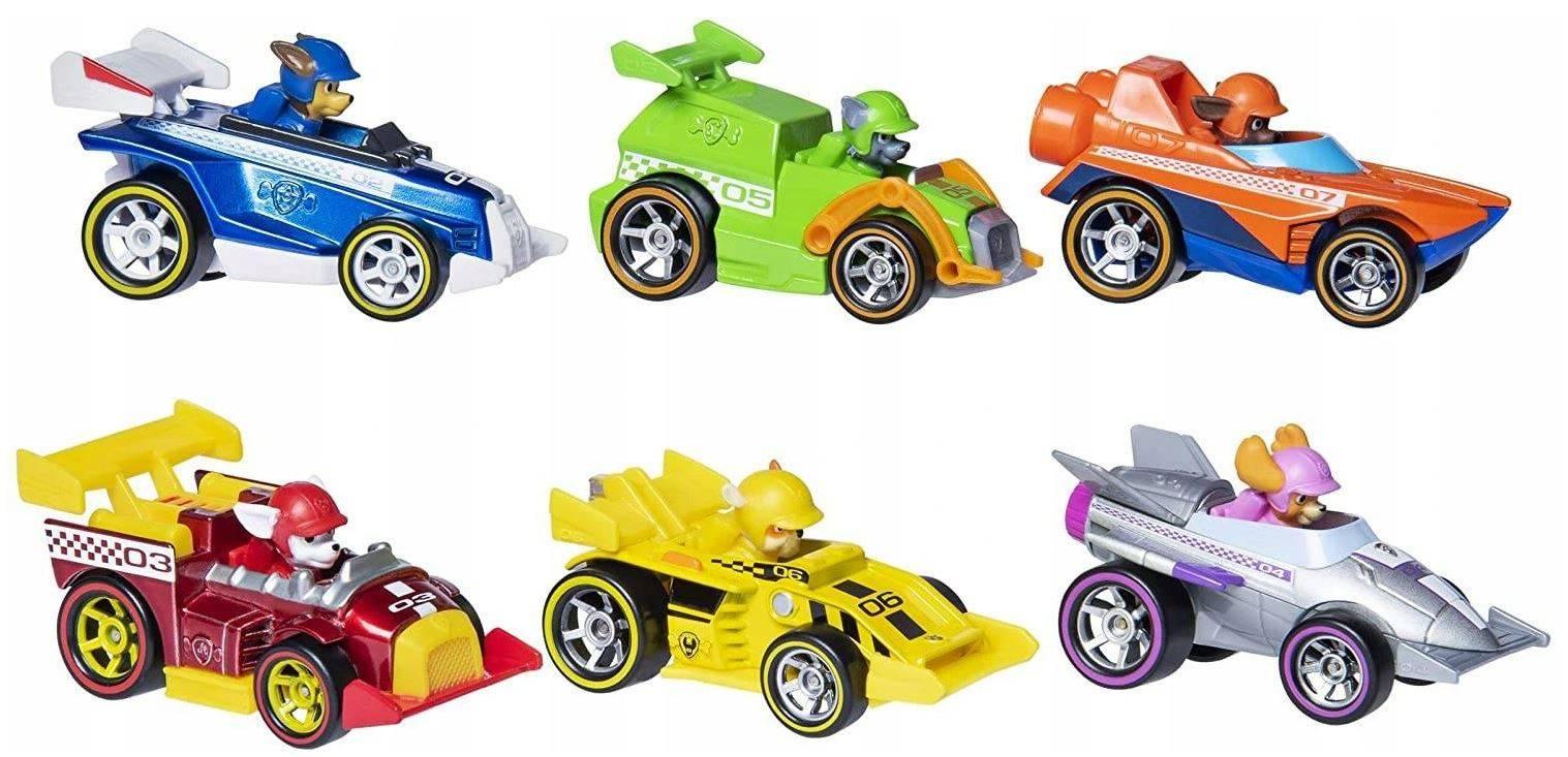 Psi Patrol 6 Pojazdów Zestaw Ready Race Rescue 6054522
