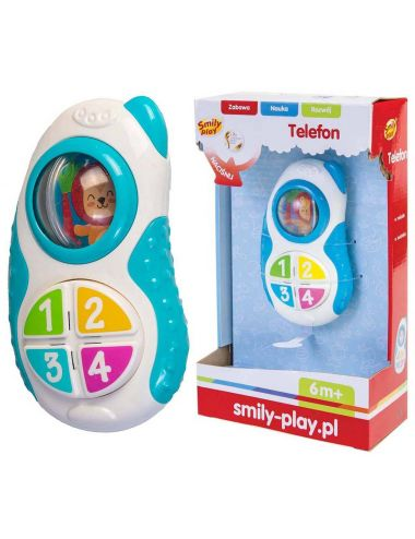 Anek Telefon niebieski Smily Play SP83122