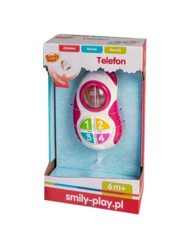 Anek Telefon różowy Smily Play SP83123