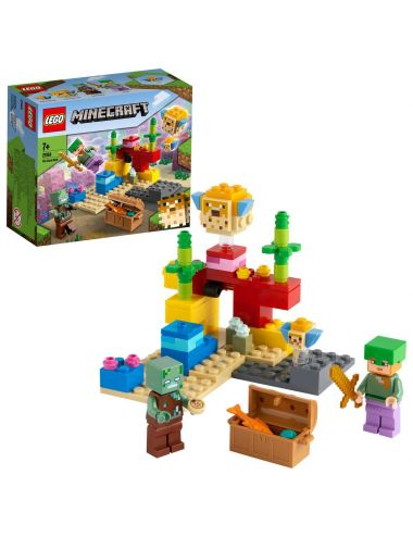 LEGO MINECRAFT Rafa koralowa klocki 21164