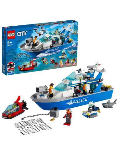 LEGO City Policyjna łódź patrolowa klocki 60277