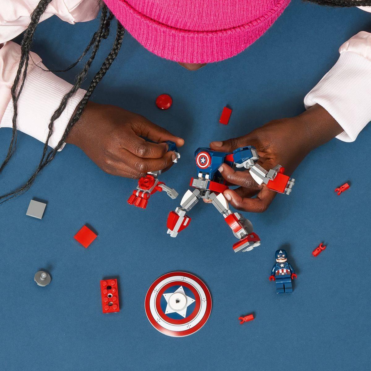 LEGO MARVEL klocki Opancerzony mech Kapitana Ameryki model 76168