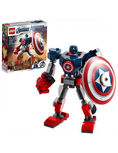 LEGO MARVEL kloki Opancerzony mech Kapitana Ameryki model 76168
