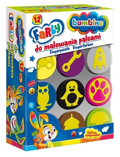 BAMBINO Farby Do Malowania Palcami 12 kolorów 5003165