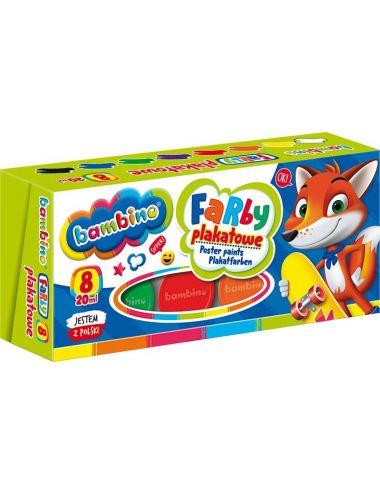 BAMBINO Farby plakatowe dla dzieci 8 kolorów 5903235004995
