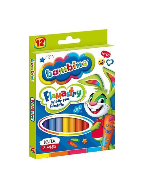 BAMBINO Flamastry dla dzieci 12 kolorów 5903235001604