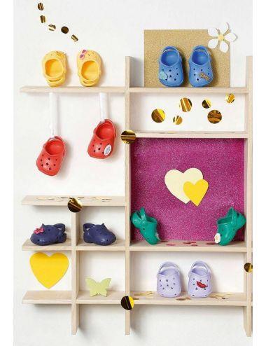 Baby Born buciki crocsy z przypinkami żółte 828311