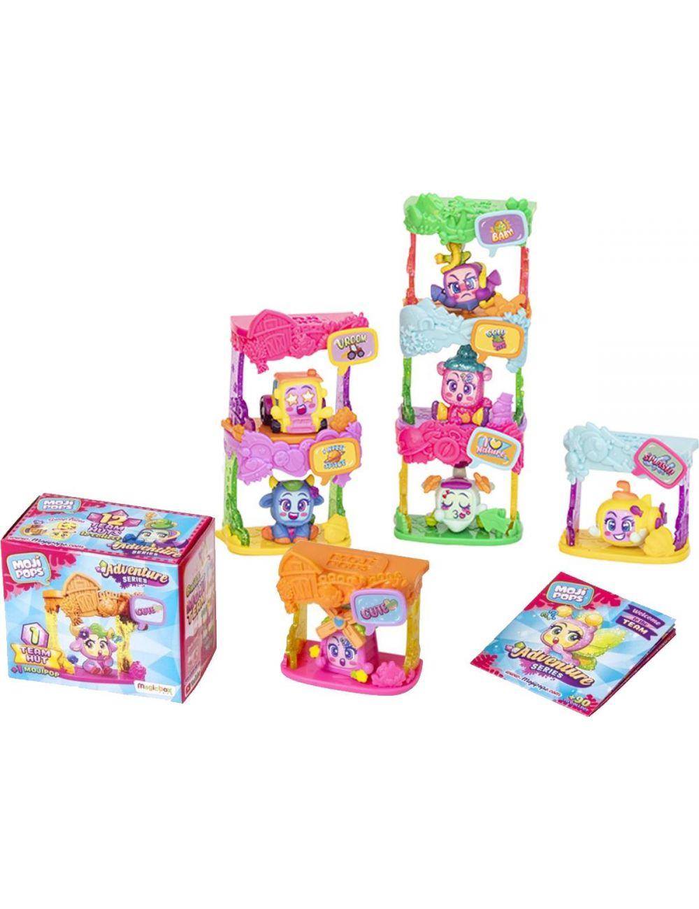 Moji Pops Adventures Two Team Hut 2 Figurki Chatki