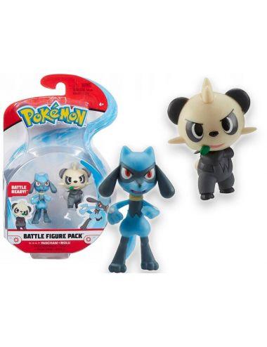 Pokemon Battle Figurka Pancham i Riolu 76477