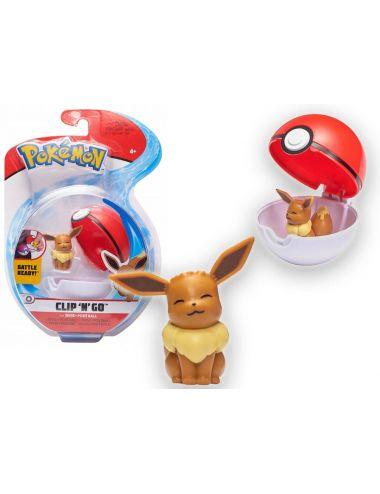 Pokemon Clip'N'Go Figurka Eevee i Poke Ball 79393