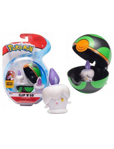 Pokemon Clip'N'Go Figurka Litwick i Dusk Ball 76576