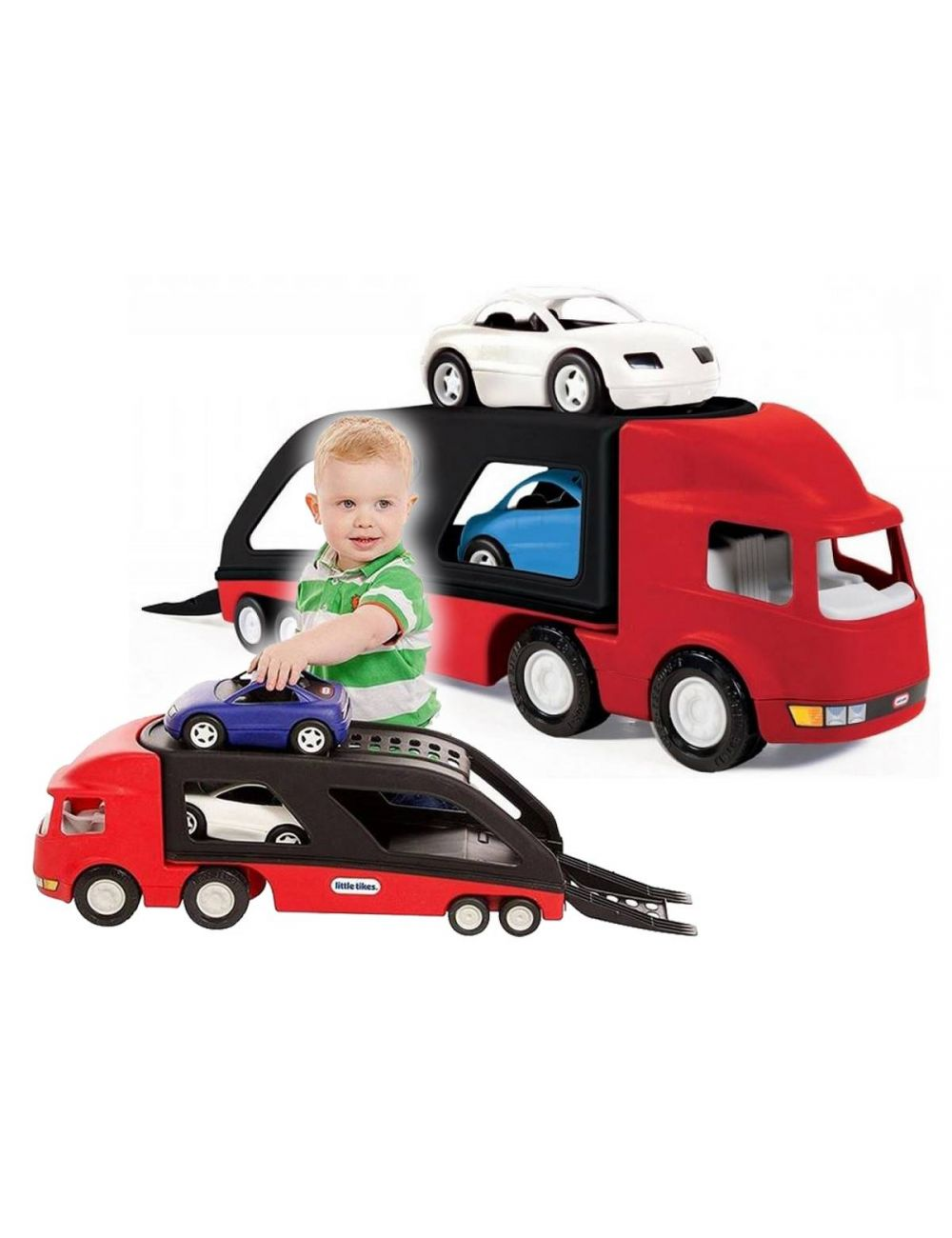 Little Tikes LAWETA Czerwona Z Dwoma Samochodami Sportowe Auta 484964
