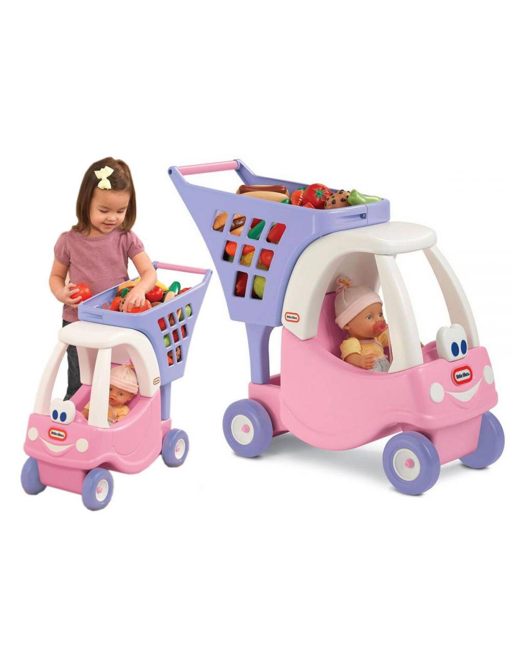 Little Tikes PCHACZ Cozy Coupe Różowy Wózek Na Zakupy 620195