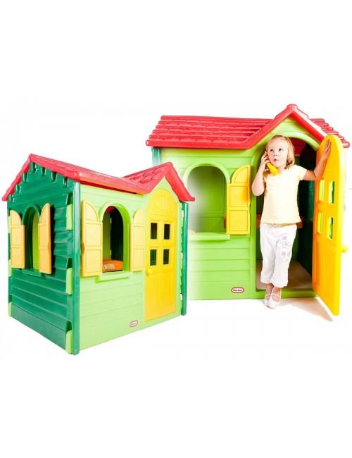 DOMEK ogrodowy WIEJSKI Little Tikes zielono-żółty