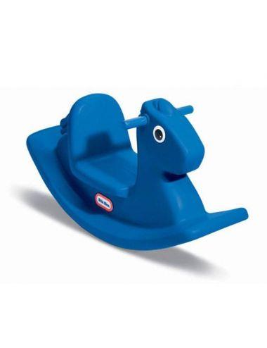 Little Tikes koń bujak na biegunach Niebieski