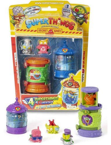 Super Zings Things Kryjówka Wykrywacz Szpiegów i 4 figurki