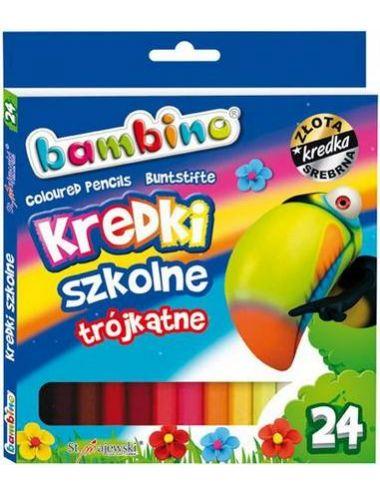BAMBINO Kredki Szkolne Trójkątne 24 kolory 5002076