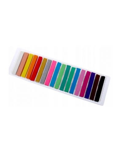 BAMBINO Plastelina Kwadratowa 18 Kolorów 2 Brokatowe 5001895