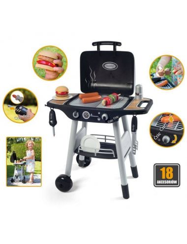 Smoby Grill Ogrodowy dla dzieci Barbecue 18 dodatków 312001