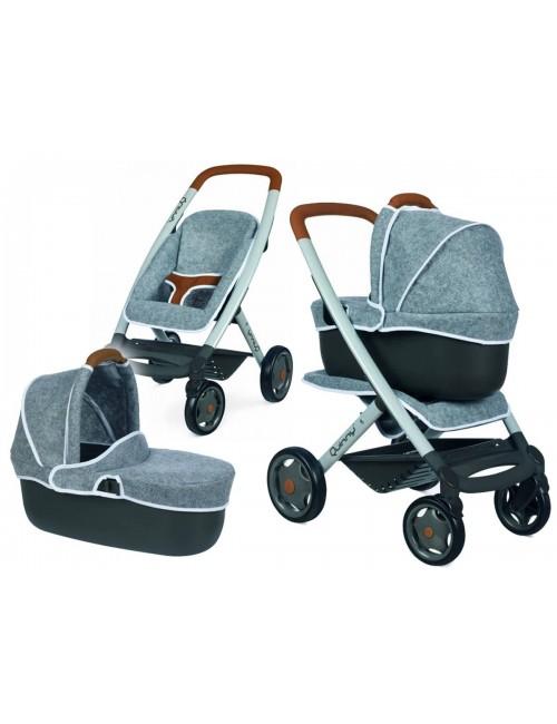 Smoby Wózek dla Lalek 3w1 Spacerówka Nosidełko Gondola Maxi Cosi Quinny