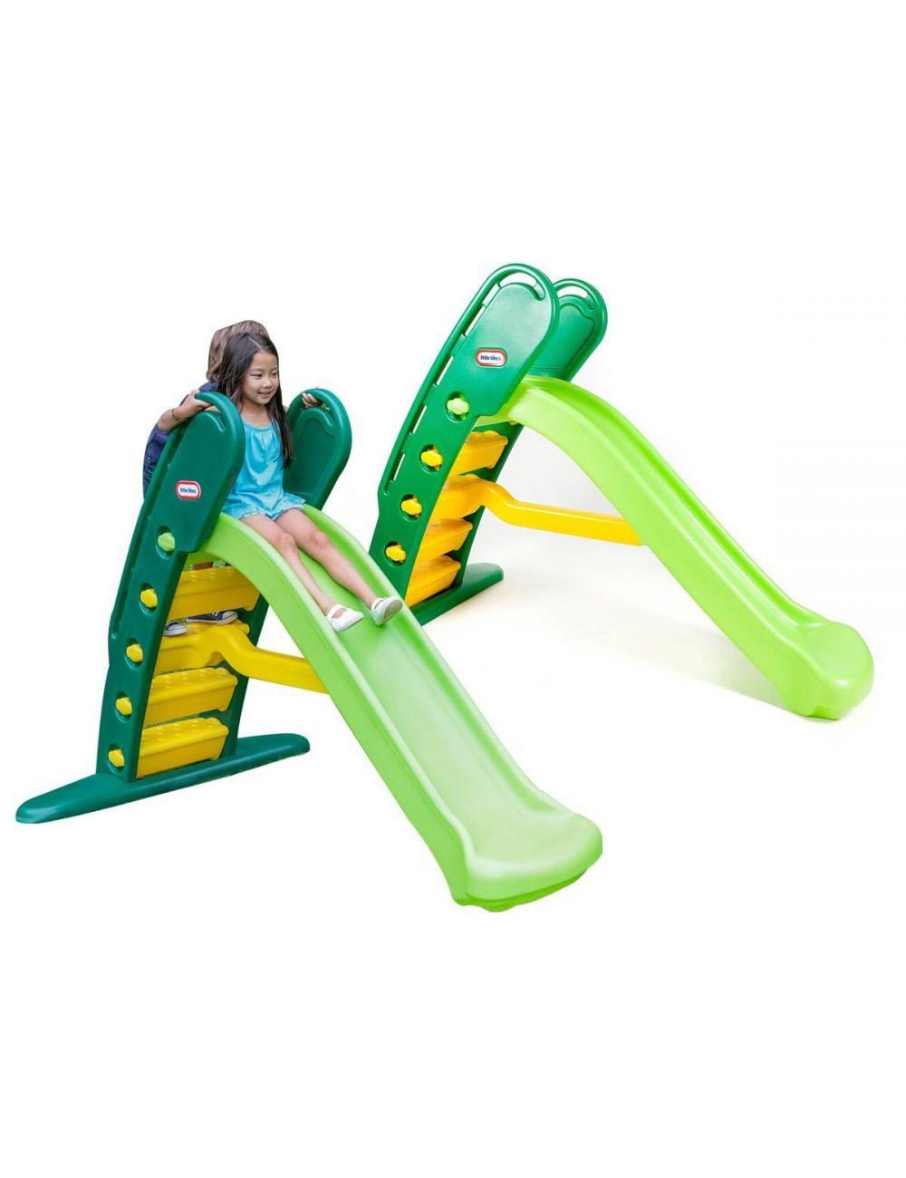Little Tikes Wielka ZJEŻDŻALNIA Dla Dzieci Duża Zielona 180 cm