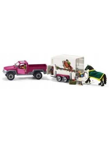 Schleich 42346 Półciężarówka z Koniem i Przyczepą Horse Club