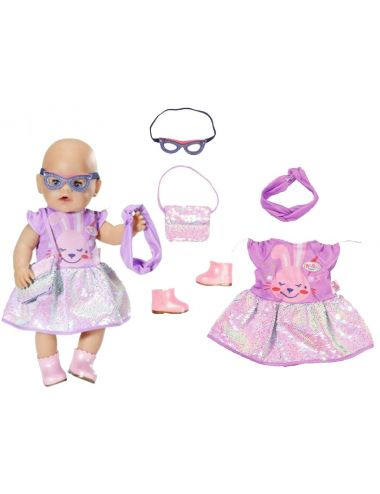 Baby Born Ubranko dla Lalki Sukienka Maska Opaska 43cm 830796