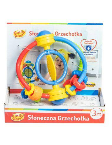Smily Play Słoneczna Grzechotka Kolorowa Gryzak 000233