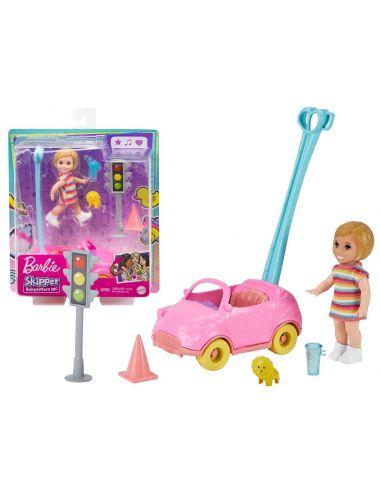 Barbie Laleczka Opiekunka Autko Spacer GRP17
