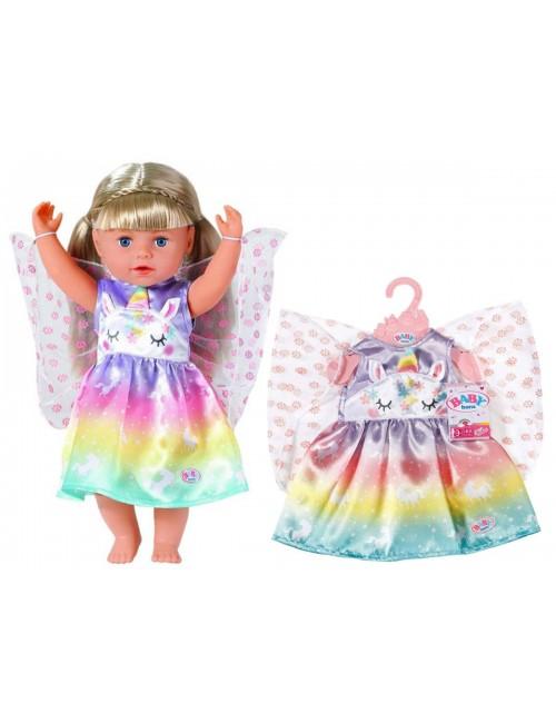 Baby Born Tęczowa Sukieneczka Jednorożec 829301