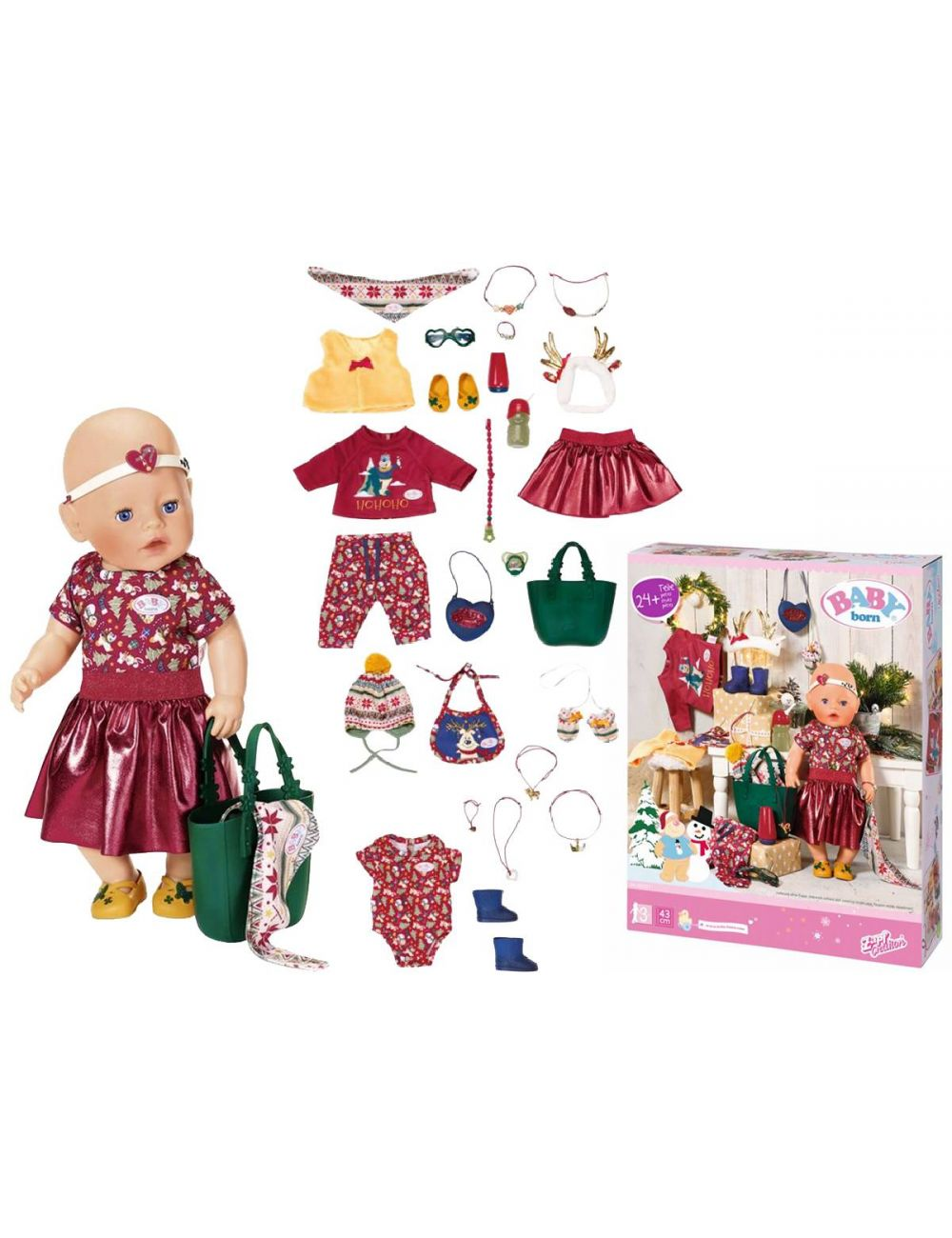 Baby Born Zestaw Świąteczny Ubranka i Akcesoria 827222