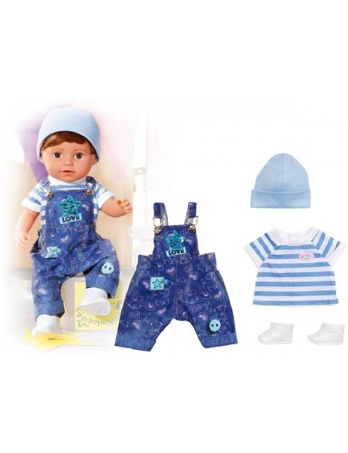 BABY BORN Ubranko jeansowe ogrodniczki 829127