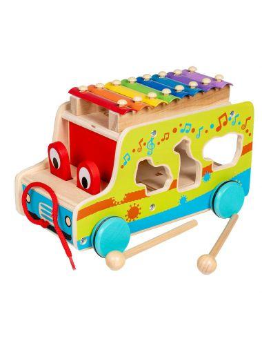 Smily Play Auto Centrum Aktywności Samochodzik Cymbałki AC7643