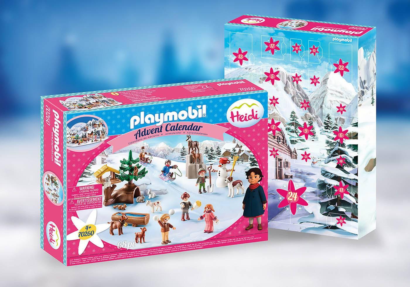 Playmobil Zimowy świat Heidi kalendarz adwentowy 70260