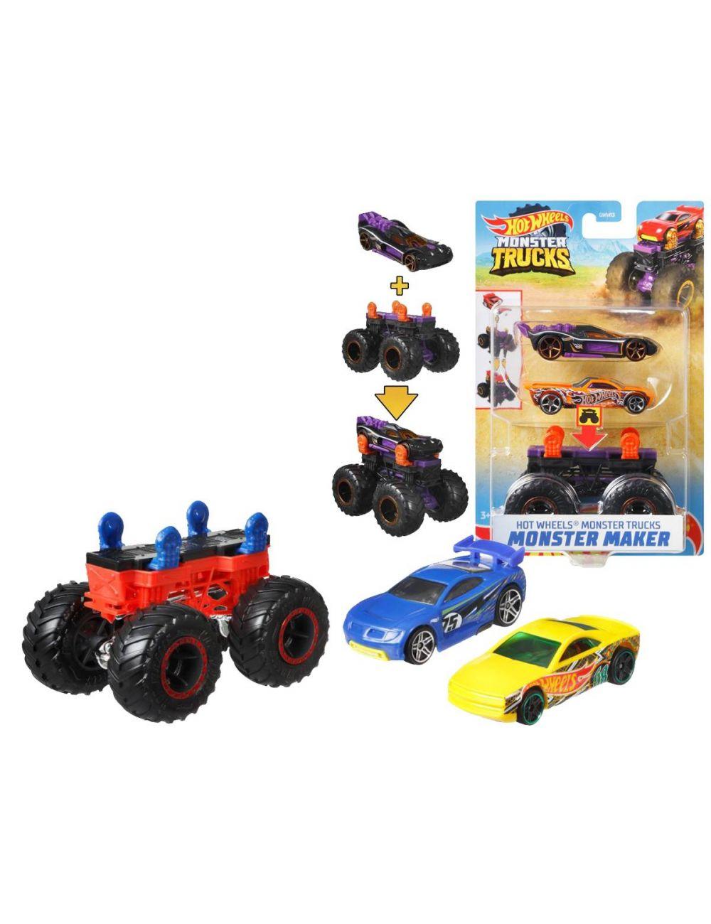 Hot Wheels Pojazd Monster Trucks Maker 1:64 GWW13