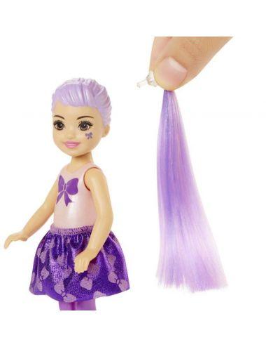 Barbie Brokatowa Chelsea Color Reveal Niespodzianka w Tubie GWC59