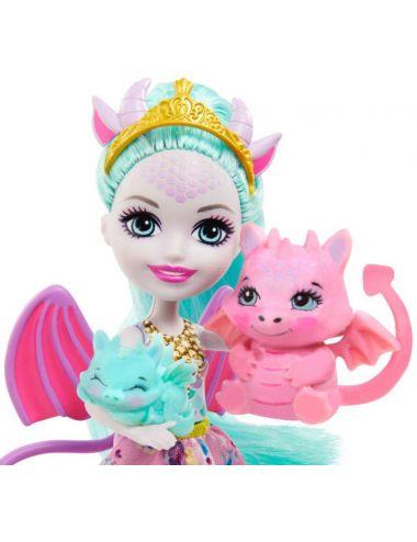 Enchantimals Lalka Rodzina Smoki Deanna Dragon GYJ09 Mattel