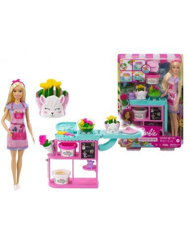 Barbie Kwiaciarka Lalka i Akcesoria Zestaw GTN58