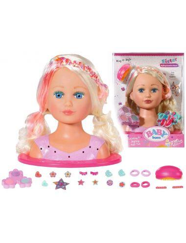 Baby Born Lalka Siostrzyczka Głowa do Stylizacji 827307