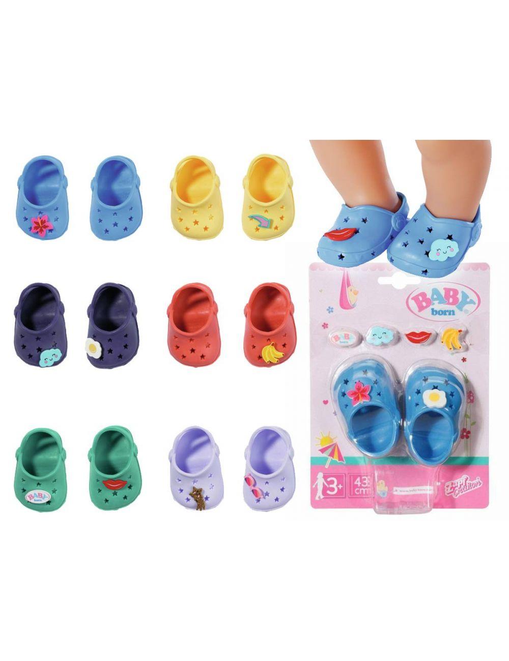 Baby Born Buciki Crocsy z Przypinkami Mix kolorów 828311