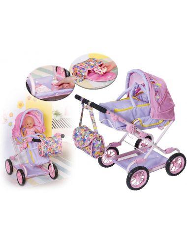 Baby Born Wózek Deluxe Pram dla Lalek z Torbą 828649